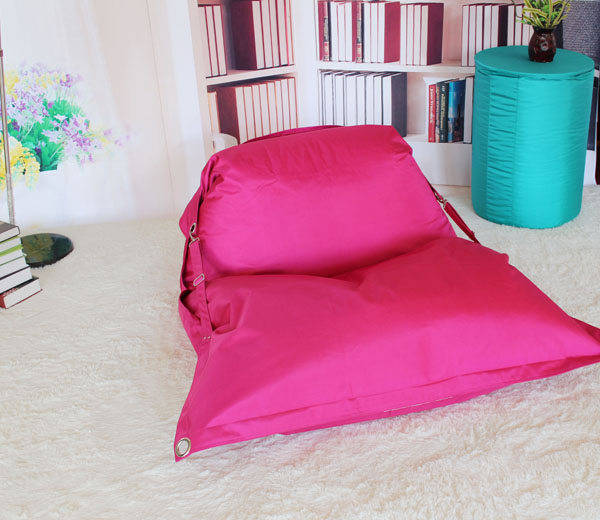 rectangle bean bag with belt for outdoor use