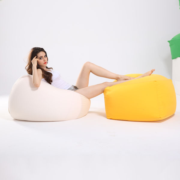 visi lycra stretching beancurd bean bag chair