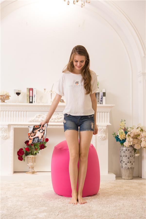 Visi Lycra Stretching Bean Barrel Kids Bean Bag Chair