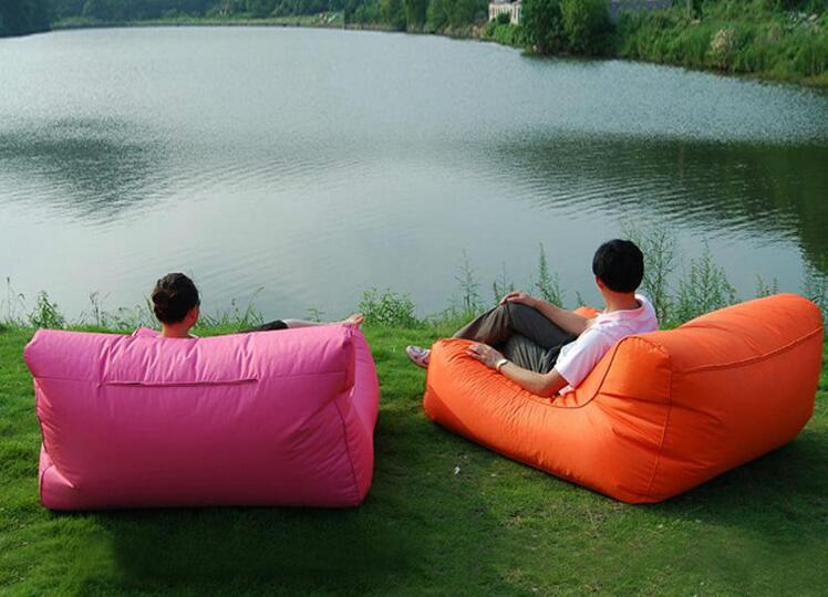 visi floating double beanbag sofa bed lounge