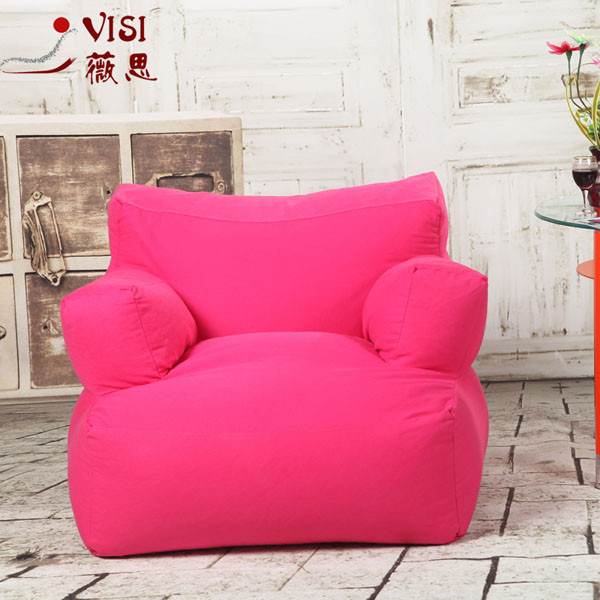 visi corduroy lazy bean bag arm back chair