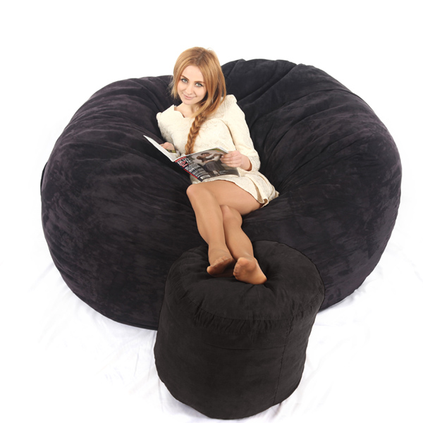 2017visi 6ft Memory Foam Bean Bag Bed Chair Cover Love Sac