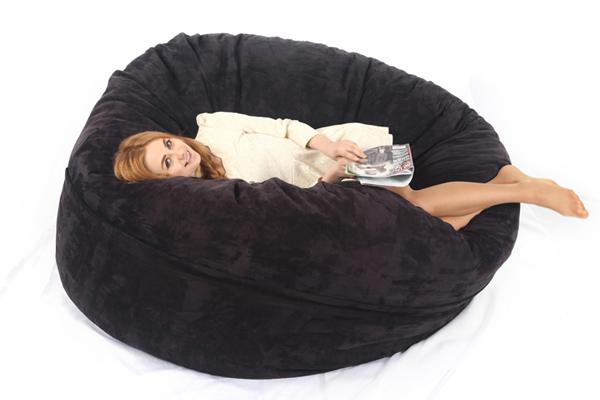 2017visi 6ft Memory Foam Bean Bag Bed Chair Cover Love Sac